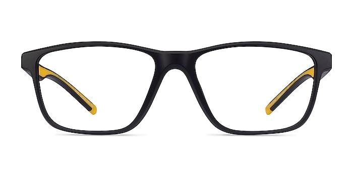 Base Black Yellow Plastic Eyeglass Frames from EyeBuyDirect