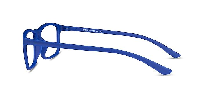 Team Matte Blue Acétate Montures de lunettes de vue d'EyeBuyDirect