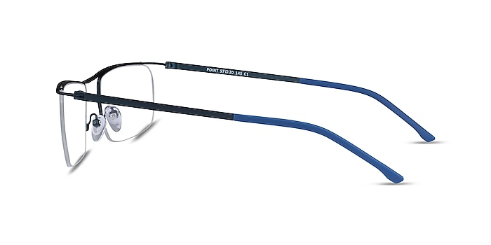 Point Navy Metal Eyeglass Frames from EyeBuyDirect