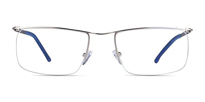Point Silver  Metal Eyeglass Frames from EyeBuyDirect