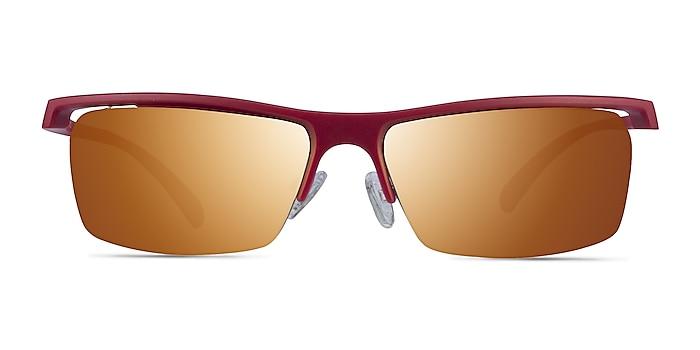 Turnover Matte Red Plastique Soleil de Lunette de vue d'EyeBuyDirect