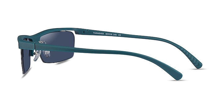 Turnover Matte Teal Plastic Sunglass Frames from EyeBuyDirect
