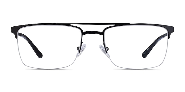 Huddle Black Metal Eyeglass Frames