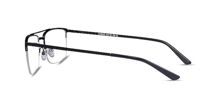 Huddle Black Metal Eyeglass Frames from EyeBuyDirect