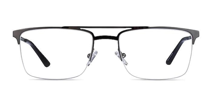 Huddle Gunmetal Metal Eyeglass Frames from EyeBuyDirect