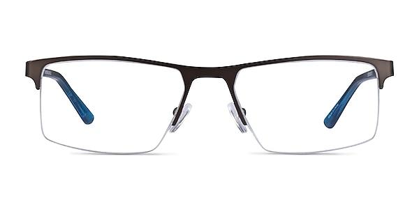 Interception Brown  Blue Metal Eyeglass Frames