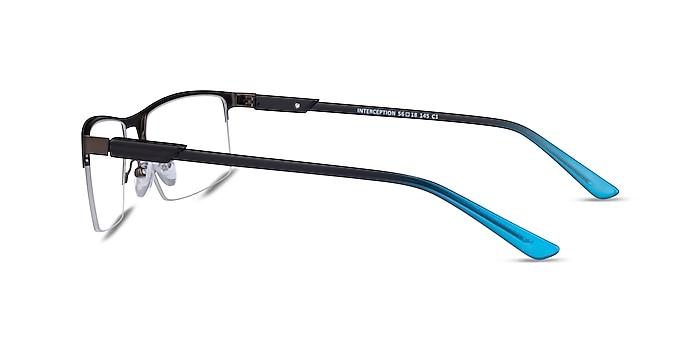 Interception Brown  Blue Metal Eyeglass Frames from EyeBuyDirect