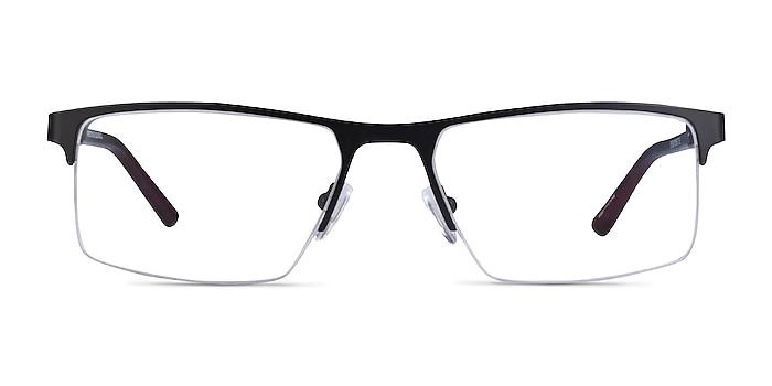 Interception Black  Red Metal Eyeglass Frames from EyeBuyDirect