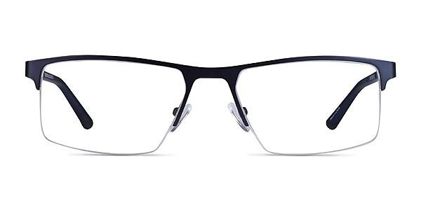 Interception Blue  Black Metal Eyeglass Frames