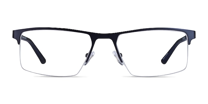 Interception Blue  Black Metal Eyeglass Frames from EyeBuyDirect