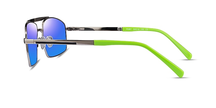 Punt Silver Green Acetate Sunglass Frames from EyeBuyDirect