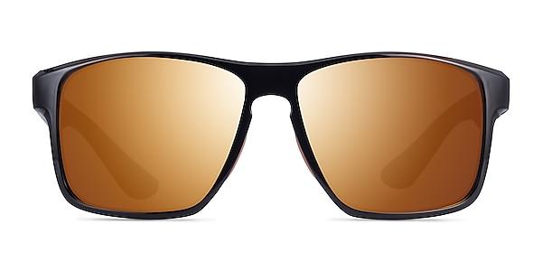 Running Black Orange Plastic Sunglass Frames