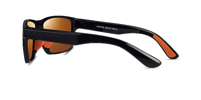 Running Black Orange Plastic Sunglass Frames from EyeBuyDirect