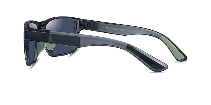 Running Gray Green Plastic Sunglass Frames from EyeBuyDirect