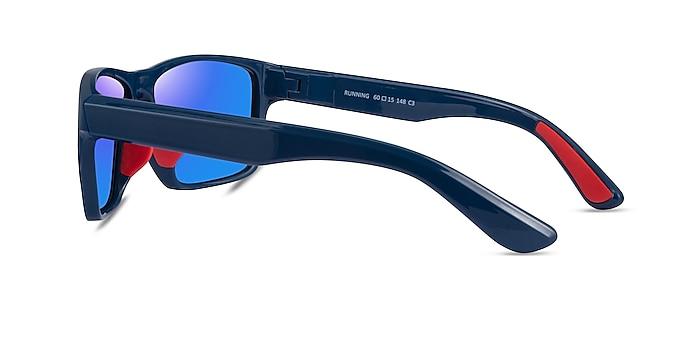 Running Blue Red Plastic Sunglass Frames from EyeBuyDirect