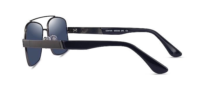 Center Gunmetal Black Metal Sunglass Frames from EyeBuyDirect