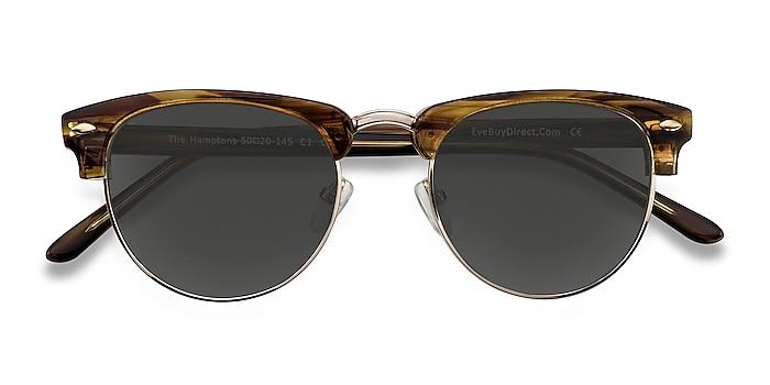 Brown Golden The Hamptons -  Vintage Acetate, Metal Sunglasses