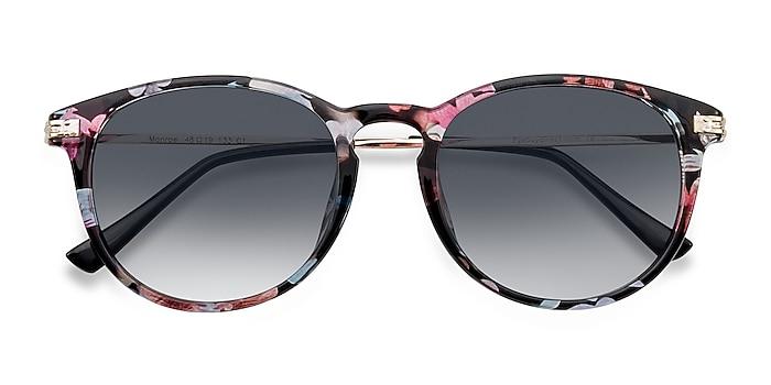 Pink/Floral Monroe -  Plastic, Metal Sunglasses