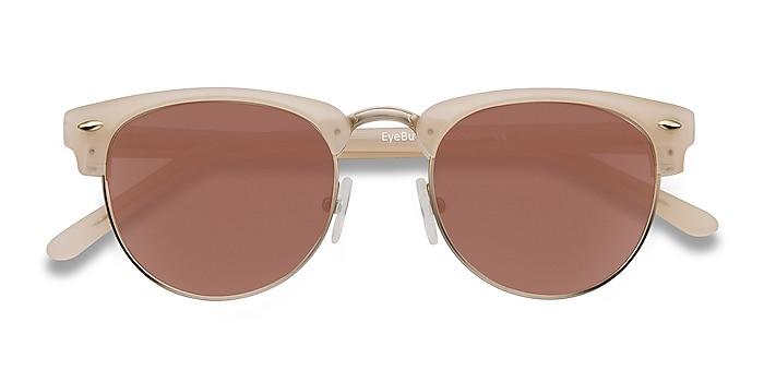 Matte Beige The Hamptons -  Vintage Acetate, Metal Sunglasses