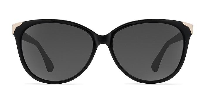 Lima Black Acetate Sunglass Frames from EyeBuyDirect