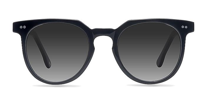 Shadow Jet Black Acetate Sunglass Frames from EyeBuyDirect