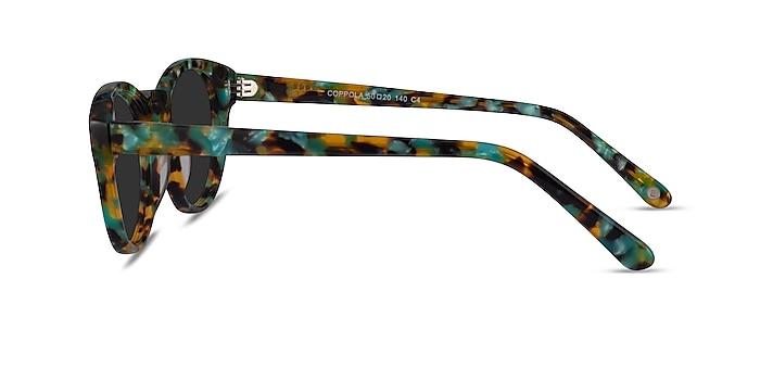Coppola Green Tortoise Acetate Sunglass Frames from EyeBuyDirect