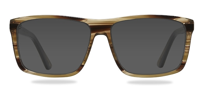 Perth Brown Acetate Sunglass Frames from EyeBuyDirect