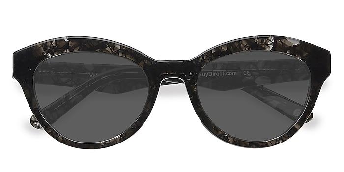 Gray Velour -  Vintage Acetate Sunglasses
