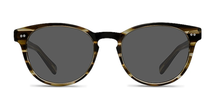 Till Dawn Brown Striped Acetate Sunglass Frames from EyeBuyDirect