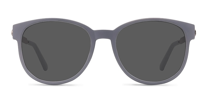 Terracotta Matte Gray Plastic-metal Sunglass Frames from EyeBuyDirect