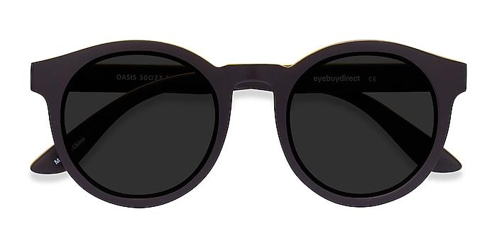 Matte Coffee Oasis -  Plastic Sunglasses