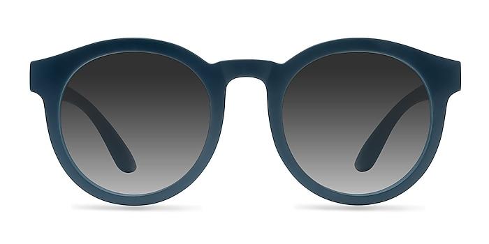 Oasis Matte Blue Plastic Sunglass Frames from EyeBuyDirect