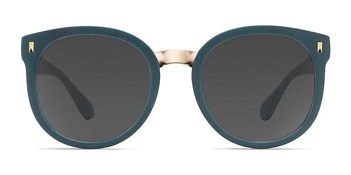 Vedette Matte Green Plastic-metal Sunglass Frames from EyeBuyDirect