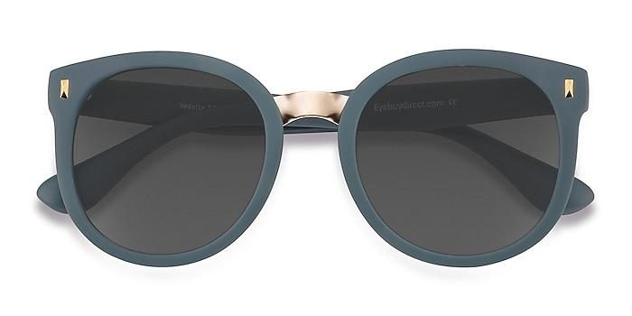 Matte Green Vedette -  Plastic, Metal Sunglasses