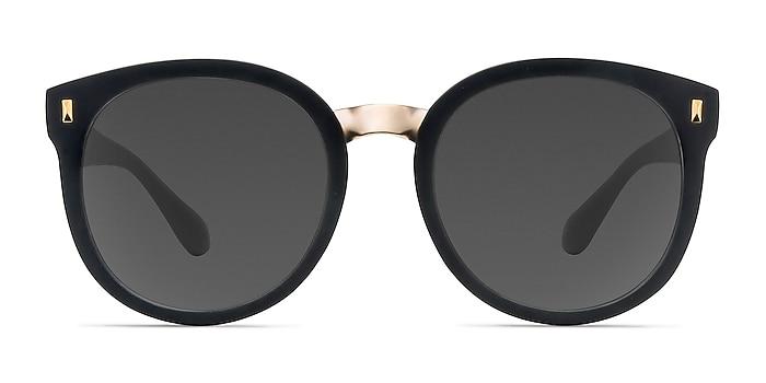 Vedette Matte Black Plastic-metal Sunglass Frames from EyeBuyDirect