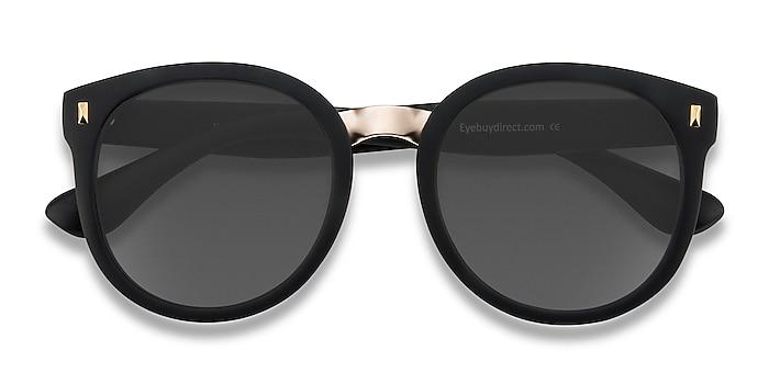 Matte Black Vedette -  Plastic, Metal Sunglasses
