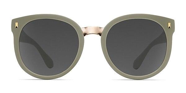 Vedette Matte Olive Plastic-metal Sunglass Frames