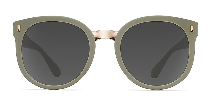 Vedette Matte Olive Plastic-metal Soleil de Lunette de vue d'EyeBuyDirect