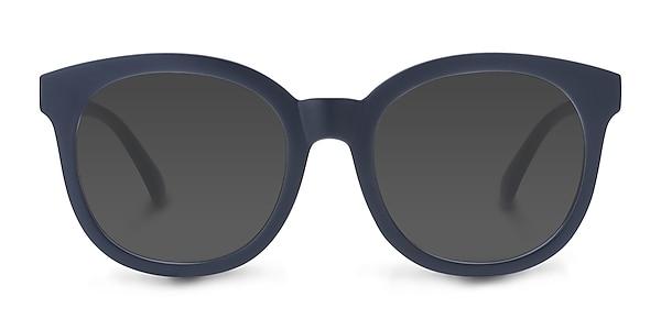 Elena Matte Navy Plastic Sunglass Frames