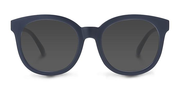Elena Matte Navy Plastic Sunglass Frames from EyeBuyDirect