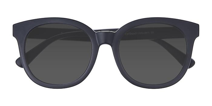 Matte Navy Elena -  Vintage Plastic Sunglasses