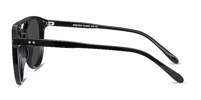 Meadow Black Plastic Sunglass Frames from EyeBuyDirect