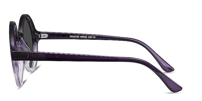 Solstice Purple Clear Plastic Sunglass Frames from EyeBuyDirect