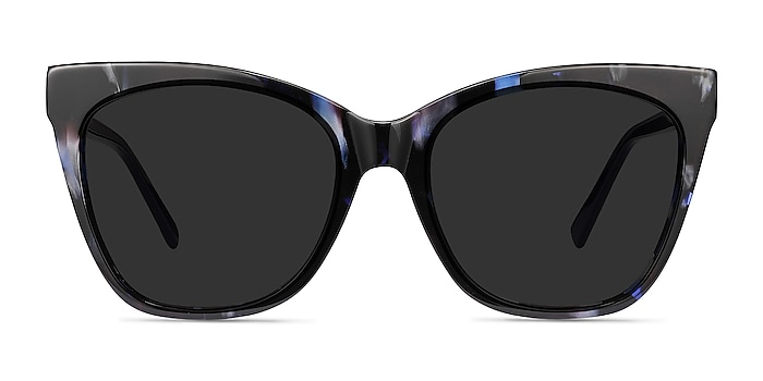 Vamp Blue Floral Acetate Sunglass Frames from EyeBuyDirect