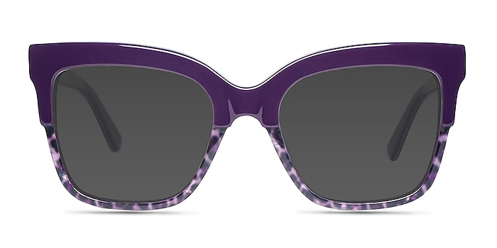 Intrigue Purple Leopard Acetate Sunglass Frames from EyeBuyDirect