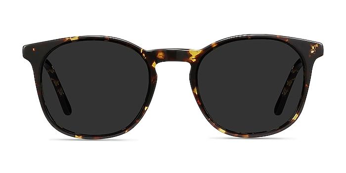 Safari Écaille Noire Acétate Soleil de Lunette de vue d'EyeBuyDirect