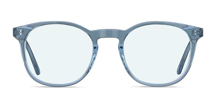 Safari Clear Blue Acetate Sunglass Frames from EyeBuyDirect