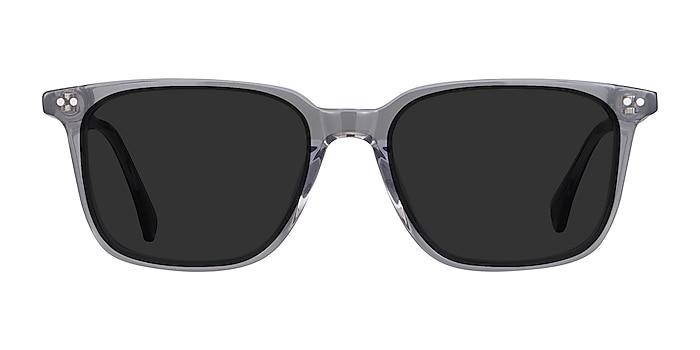 Luck Clear Gray Acetate Sunglass Frames from EyeBuyDirect