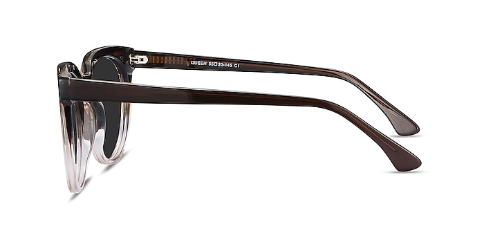 Queen Brown Striped Acetate Sunglass Frames from EyeBuyDirect