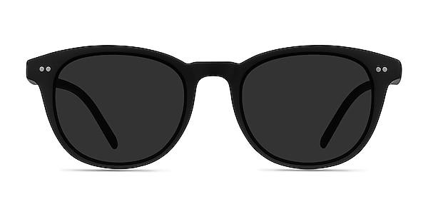 Hidden Black Plastic Sunglass Frames